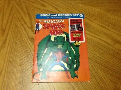 The Amazing Spider-man Book And Record Set
