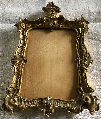 19c ORNATE GILT & GESSO PICTURE FRAME With glass and backing board