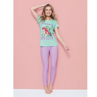Avon The Little Mermaid Pjs Pyjamas    Disney Licensed Ariel Purple Aqua RRP  £22 d0d9de0f3