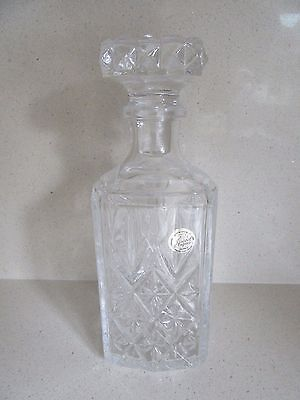 "Heavy Glass Crystal Wine Whiskey Port Brandy Decanter Weight 1.6 Kg 9"" tall"