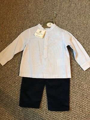 Mintini baby Outfit 6 Months Blue Shirt And Trousers