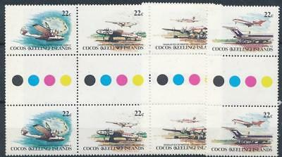 [110189] Coco's Is. Planes 2x good Set very fine MNH Stamps