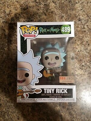 Funko Pop! Rick and Morty Tiny Rick (With Guitar) #489 Box Lunch New *IN HAND*