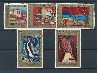 [38226] Polynesia 1975 Art Good airmail set Very Fine MNH stamps