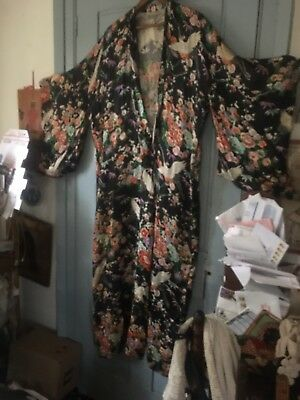 Beautiful Vintage ANTIQUE CHINESE ?rayon ROBE KImono