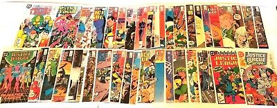 JUSTICE LEAGUE #1-29 Annual #1  + EUROPE #1 JLA JLI INTERNATIONAL 1986 full set