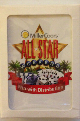 "MillerCoors All Star Weekend ""Win with Distribution"" Beer Playing Cards"