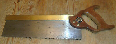 TYZACK SONS & TURNER 12 inch BRASS BACKED Tenon saw