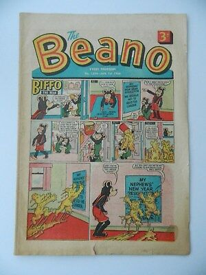 Beano Comic #1224 (1966) - Jan 1st - New Years Issue ! - Good- Condition
