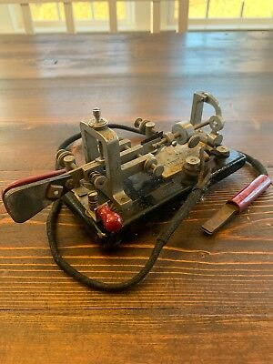Vibroplex Telegraph Bug Key with Cable and Lionel Wedge Connector
