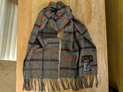 Mens Barbour Scarf Multi Check 95% lambswool 5% cashmere