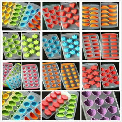 Cute Silicone Ice Cube Jelly Chocolate Fruit Cake DIY Mould Mold Tray Pudding