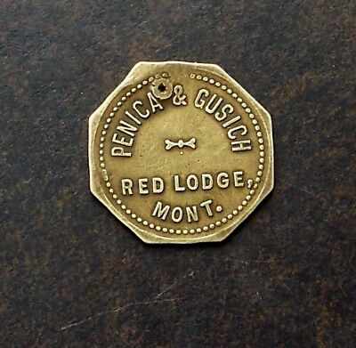 RED LODGE MONTANA / PENICA & GUSICK / 5c / ANTIQUE TRADE TOKEN