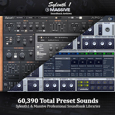 NI Massive AND Sylenth - Studio Producer Soundbank Archives. HUGE Library Bundle