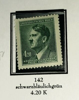 Rjkstamps GERMANY 1945 BOHEMIA MORAVIA OCCUPATION Mi#142 M with hinge remnant
