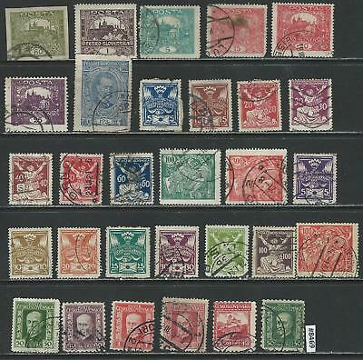 #8469 CZECHOSLOVAKIA Lot of Early Issues Used Combine Shipping