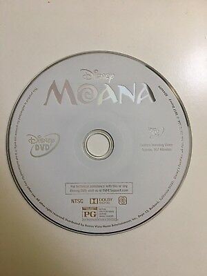 Moana (DVD, 2017) Disc and Slim Case ONLY