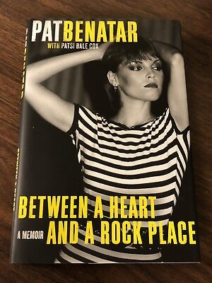 Pat Benatar Hand Signed Book Autobiography Between A Heart And A Rock Place 80's
