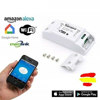 Interruptor Inalambrico Sonoff Inteligente Wifi Domotica Alexa Gogle Home Iphone