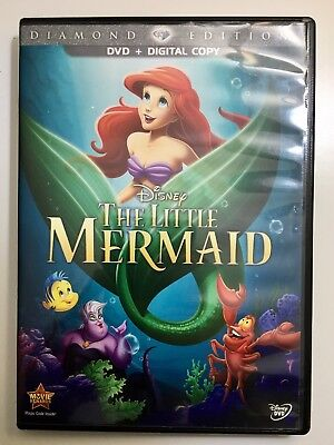 The Little Mermaid (DVD, 2013, Diamond Edition) Disc And Case ONLY
