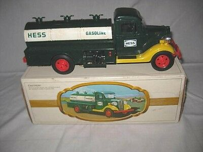 Vintage 1983 The First Hess Truck Gasoline Tanker Truck with Box, Hong Kong