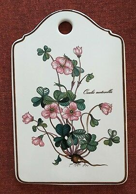 """Villeroy & Boch """"Botanica"""" ~ Porcelain Cheese Board ~Oxalis Pink ~ Mint Cond."""