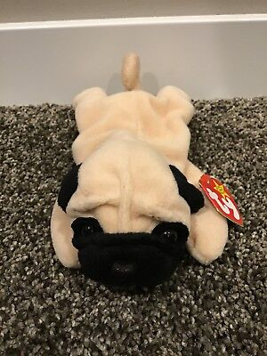 TY BEANIE BABY - PUGSLY the Pug Dog 1996 Retired -  2.00  1ba937da930