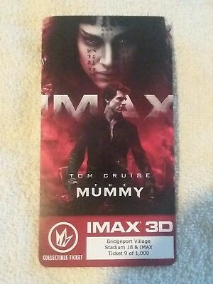 Tom Cruise The Mummy Collectible Regal IMAX Ticket #9 of 1000 Annabelle Wallis