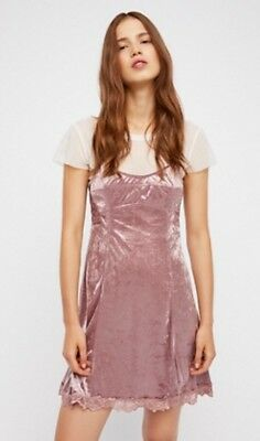 3a669ffc329b FREE PEOPLE CHEEKY Velvet Slip Dress Bright Orchid Size Extra Small ...