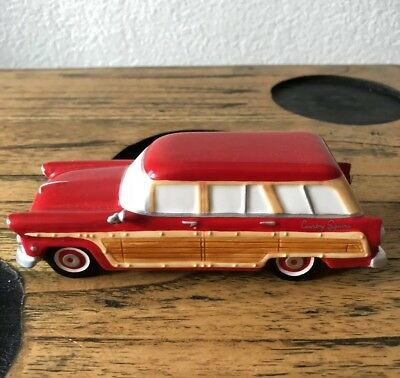 Dept 56 Snow Village 1955 Ford Country Squire Station Wagon Car! No Box