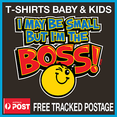 MAYBE SMALL IM THE BOSS t-shirt Kids Toddler Baby t-shirt Sizes 00-4 Tees Tops