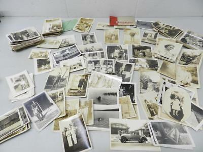 Huge Lot Over 100 Vintage B&W Snapshots 1920's - 50's Well to do NY Family