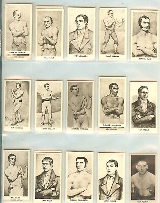 1938 Knock Out Razor Famous Prize Fighters 32 Card Set
