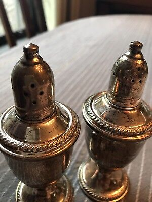 Vintage Silver Weighted Salt & Pepper Shakers