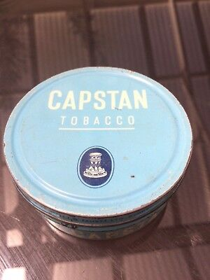 1970 Capstan Ready Rubbed  2oz Tobacco blue Tin rare  SIDCHROME holden ford