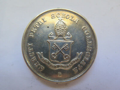 Saint Peters College Sterling Silver Medal 1926 Awarded Jfb Porter Swimming U 14