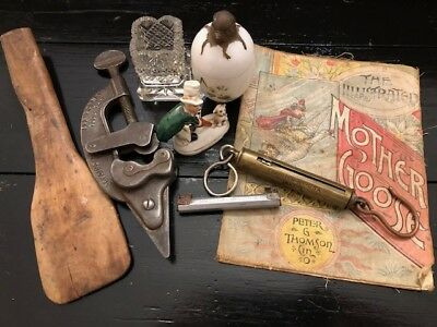 Estate Antique Vintage Junk Drawer Lot 1800's-Early 1900's Tool, Scale, Spoon