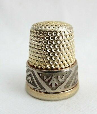 Vintage Gold Wash Thimble Very Nice