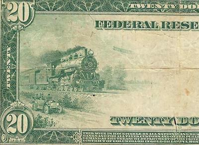 Large 1914 $20 Dollar Dallas Federal Reserve Note Big Currency Old Paper Money