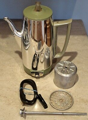 GE 9 Cup IMMERSIBLE Automatc Electric Percolator Coffee Maker Pot 5P15 USA