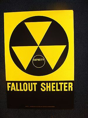 "Fallout Shelter Sign - 14"" X 20"""