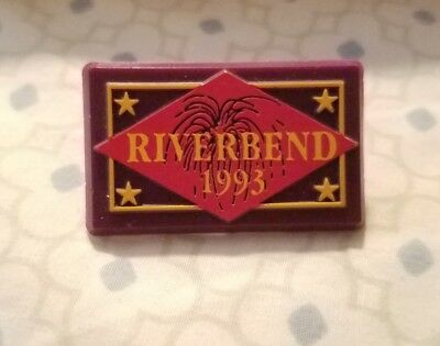 1993  Riverbend Festival Admission Pin - Chattanooga TN