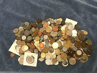 5 lb pounds bulk mixed foreign / world assorted coin lot
