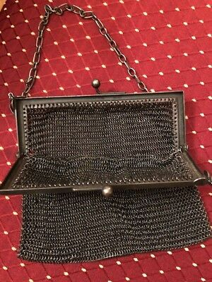 Vintage Silver Chainmail Mesh Purse With Clasp