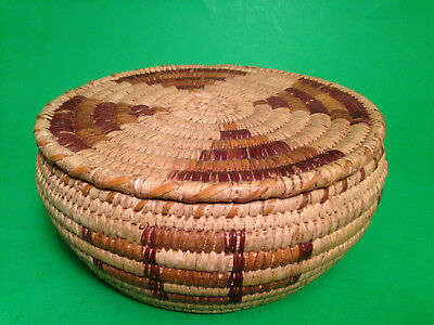 Papago Native American Tohono O'odham Indian Basket