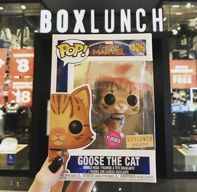 Funko Pop Marvel #426 Flocked Goose the Cat Box Lunch Exclusive BRAND NEW 💥💥