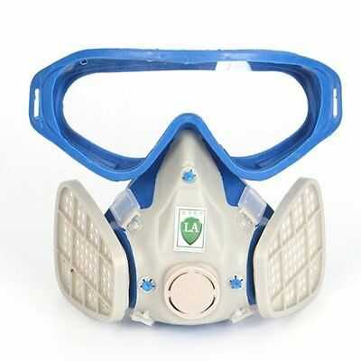 Full Face Respirator Gas Mask With Goggles Paint Chemical Protective Mask MW