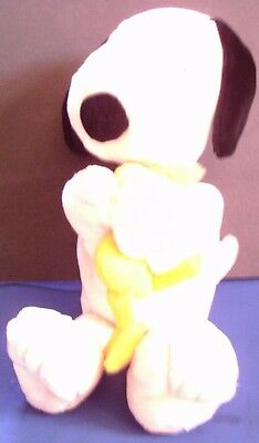 "Applause 16"" Snoopy Peanuts Holding Hugging Woodstock Collectible Plush"