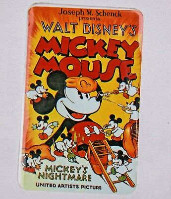 "Walt Disney's Mouse ""Mickey's Nightmare"" First Issue Phone Card UA Sealed #987"
