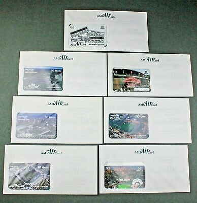 """AMI """"Air"""" Card Phone Card Lot of 7 Sealed Baseball Chicago Cubs  Collectible"""